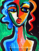 abstract girl original painting contemporary