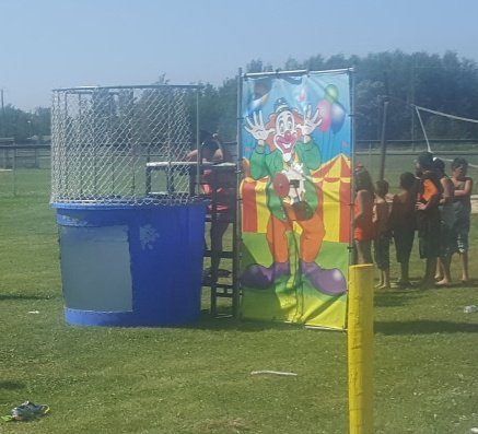 Trailer mounted Dunk Tank $250.00 plus tax $282.50 Total