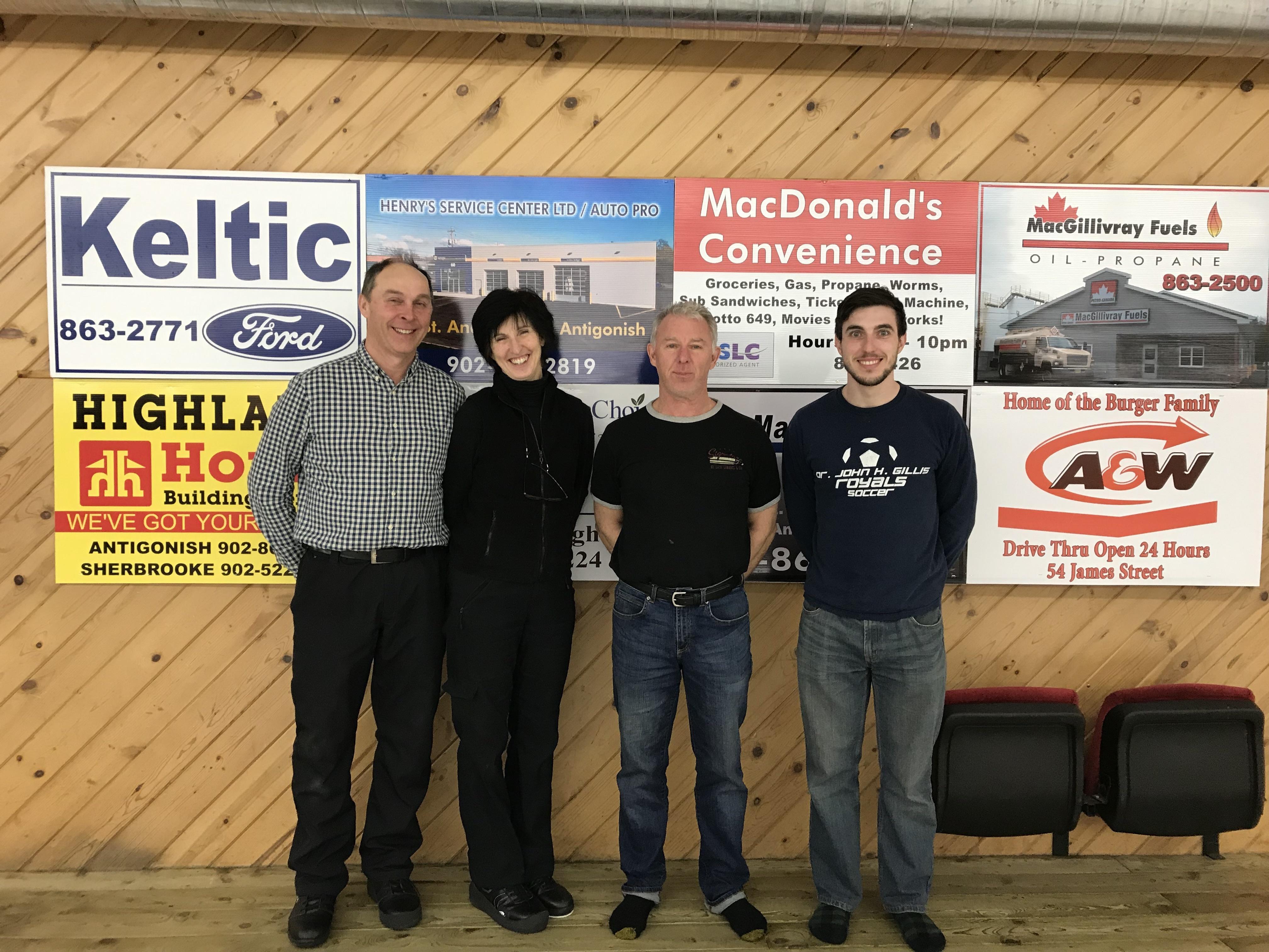 2nd Half Division C Winners: Steven Doiron, Susan Doiron, Cameron Gillis, Aly Gillis