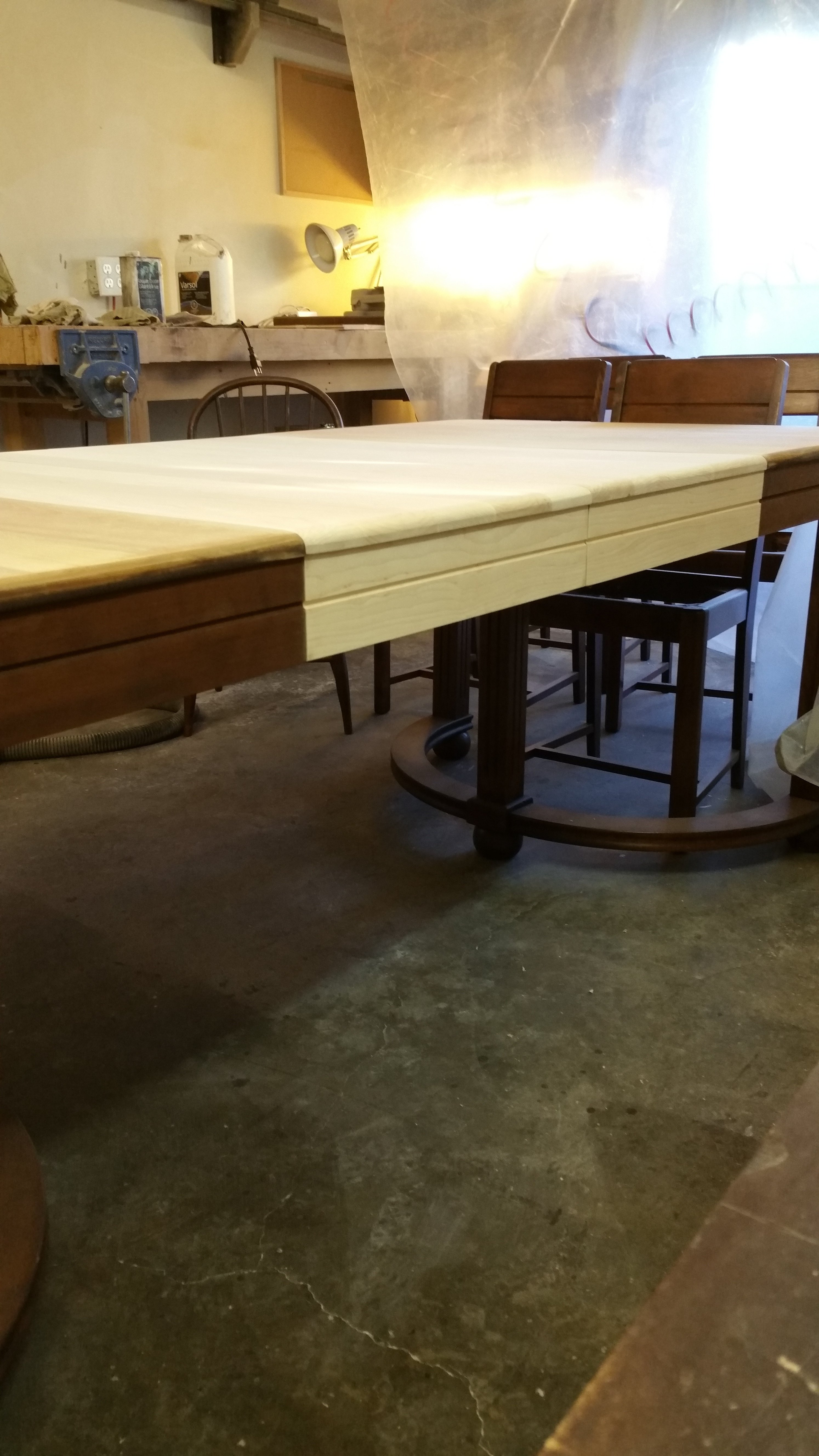 Matching table skirts with profile