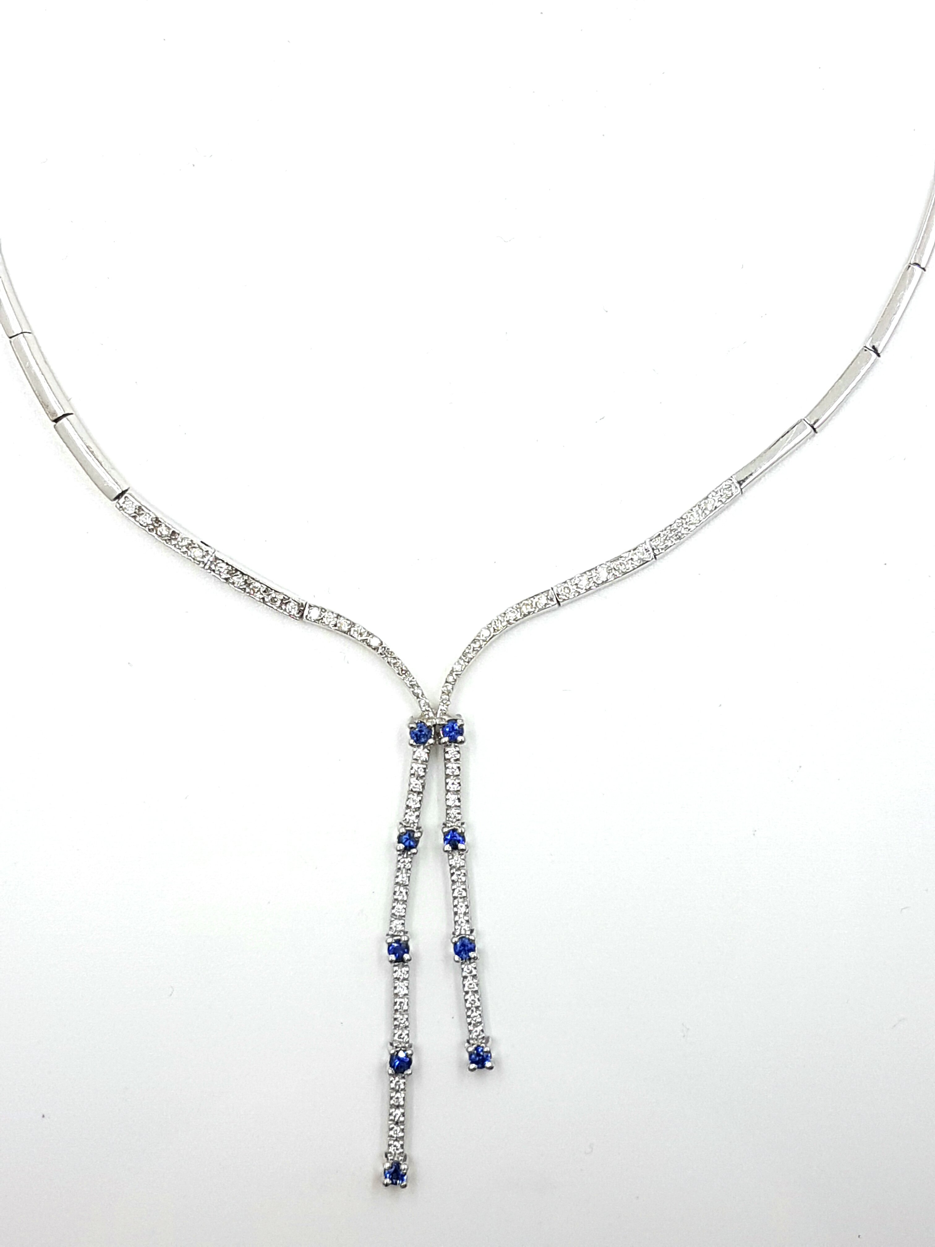 14K White Gold Diamonds: 0.82ct / Sapphires: 0.50ct Regular Price $9500 SALE $1995 Ref: NN207