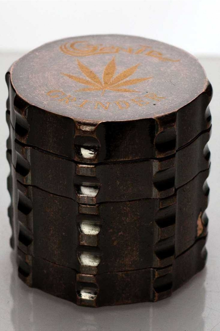 GRINDER - [GENIE] 4PCS METAL GRINDER Small - Antique Brass SKU:2108
