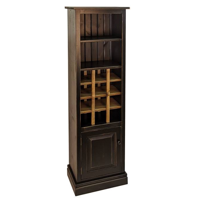 Vintage Black with Classic Stain wine rack