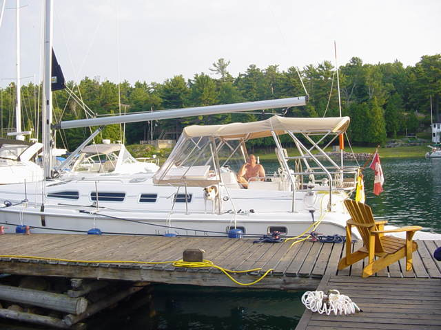 DAUPHIN AT DOCK IN PENETANGUISHENE