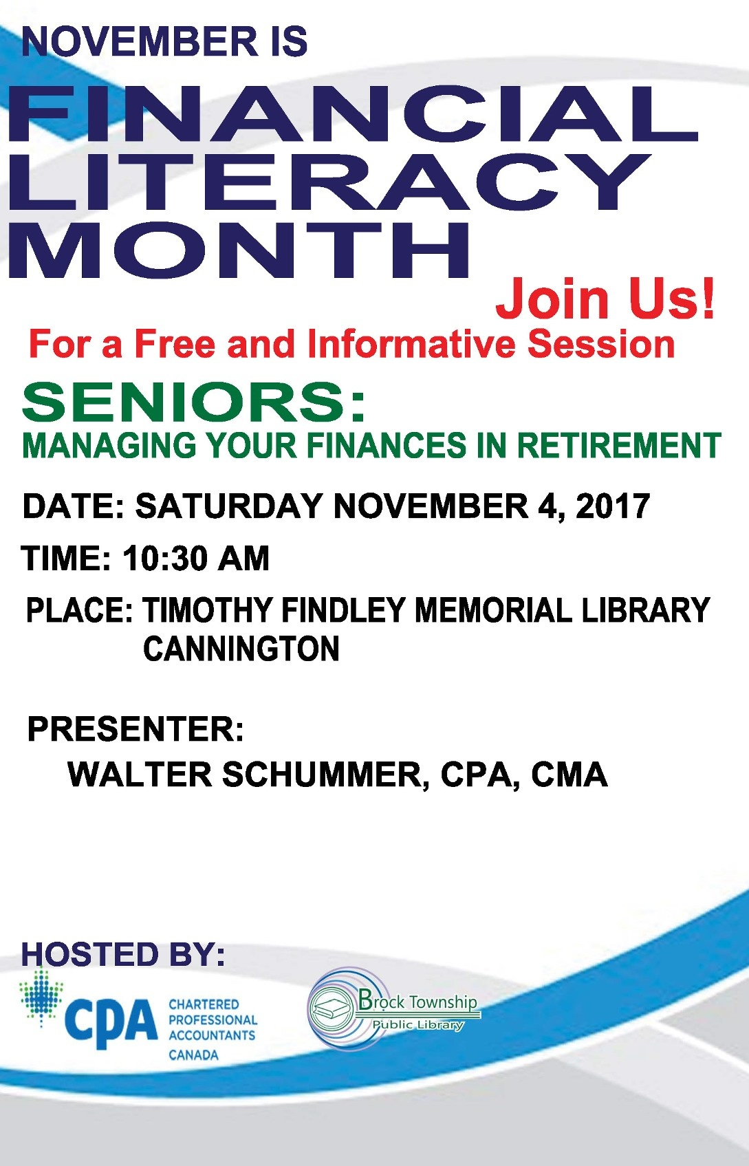 November is Financial Literacy Month!
