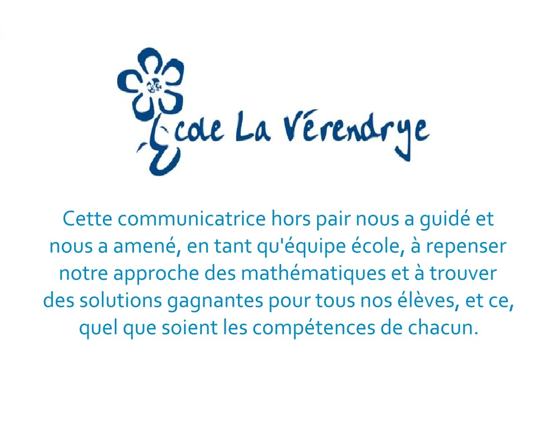 Sandrine Coronat Directrice École La Vérendrye