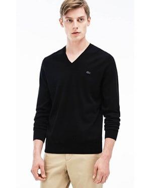 Lacoste  V-Neck Cotton Sweater