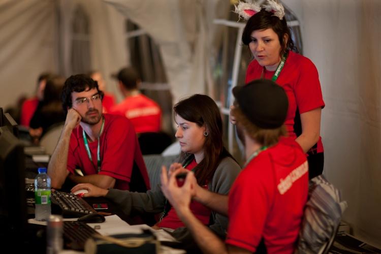 Les participants au  début de la  compétition.  4 août 2011 X289