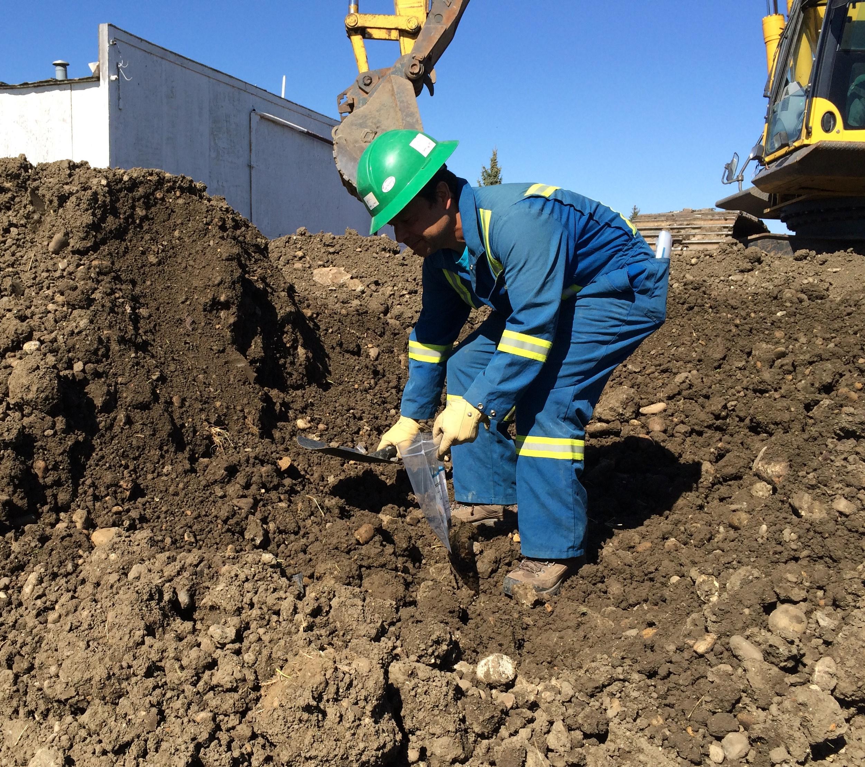 soil sampling for contaminants