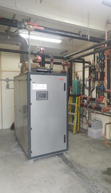 Farm-Greenhouse Riello Array AR-1500 boiler retrofit