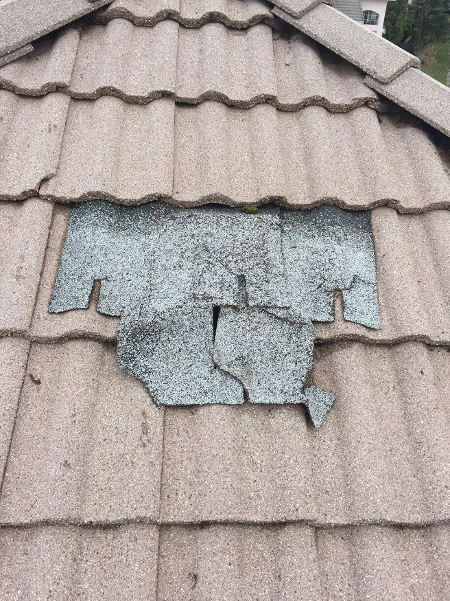 very poor repairs on damage vent