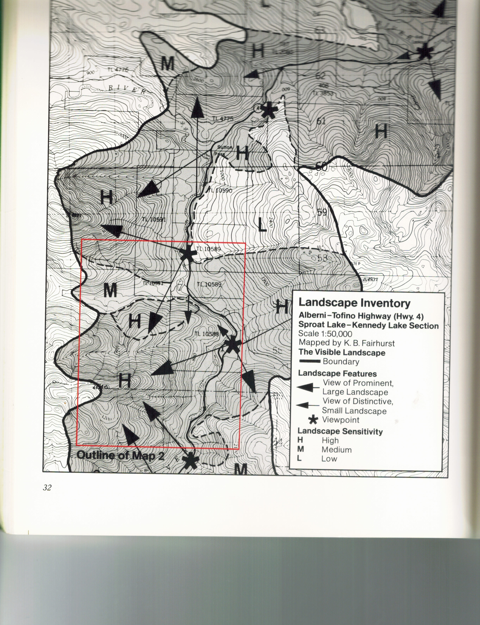 Original Alberni-Tofino Visual Landscape Inventory mapped by KB Fairhurst 1980