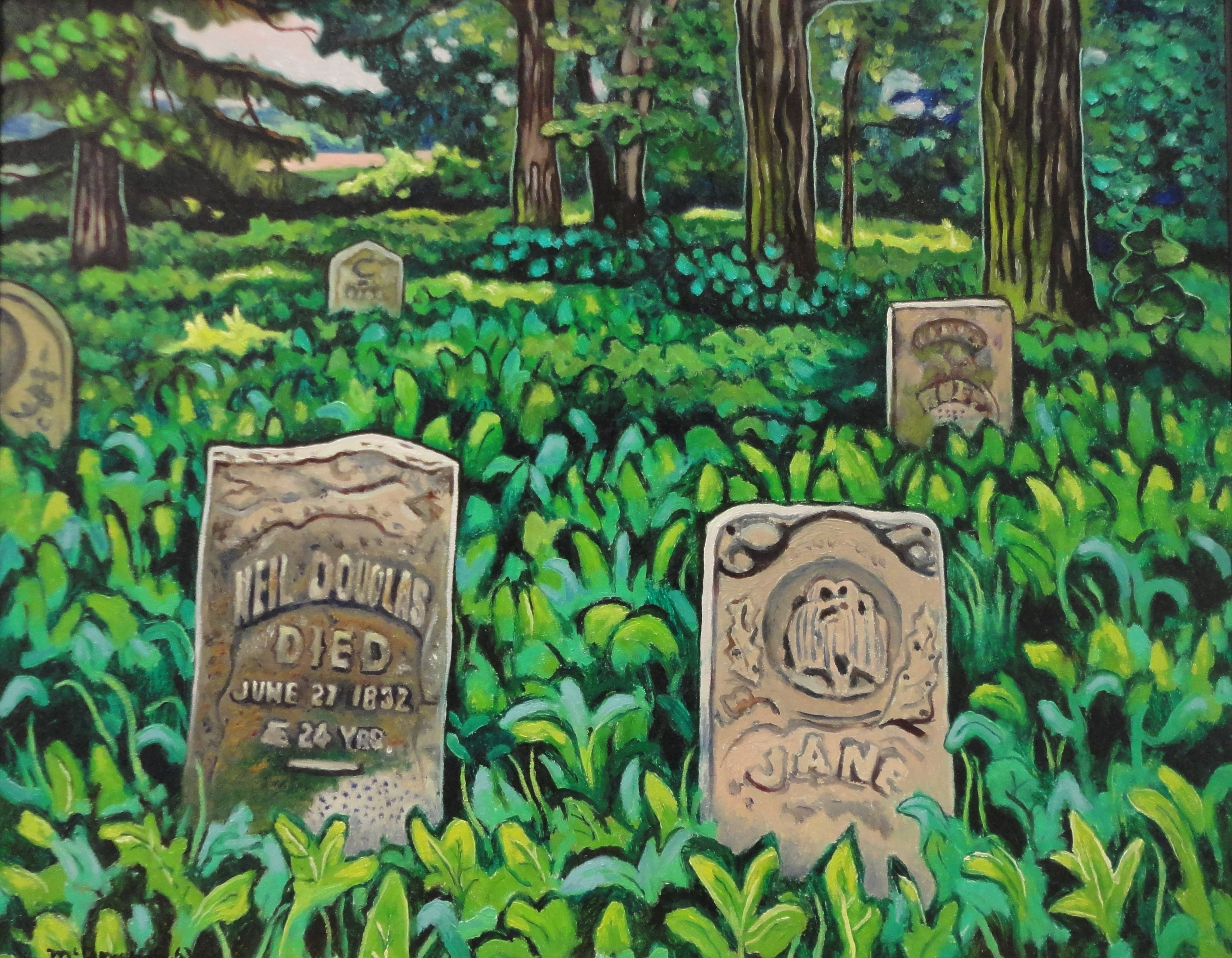 Salt Creek Cemetery, Oil on board