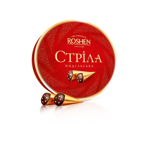 RSHN200RD Roshen condensed milk sweets covered with dark chocolate 200 gr