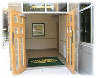 Entrance of Evergreen Crematorium