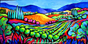 vineyard abstraction original painting