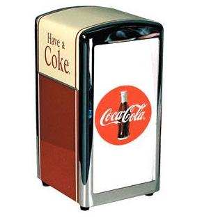 Coke Metal Napkin Dispenser