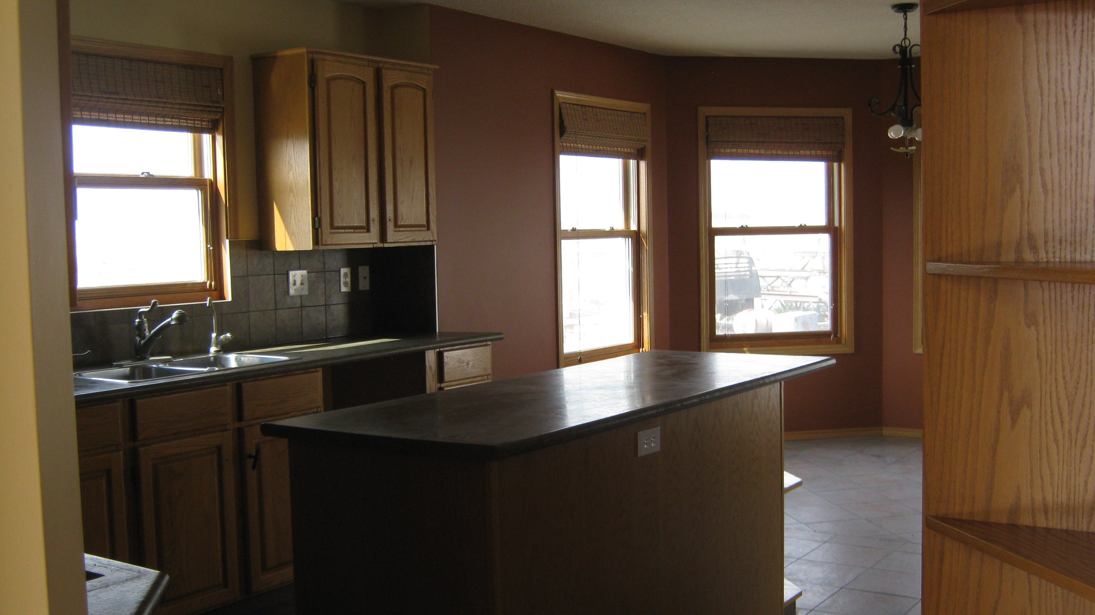 Kitchen with eat in dining room