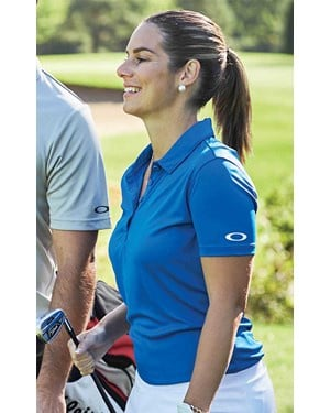 Ladies Crestible Solid Golf Polo Shirt