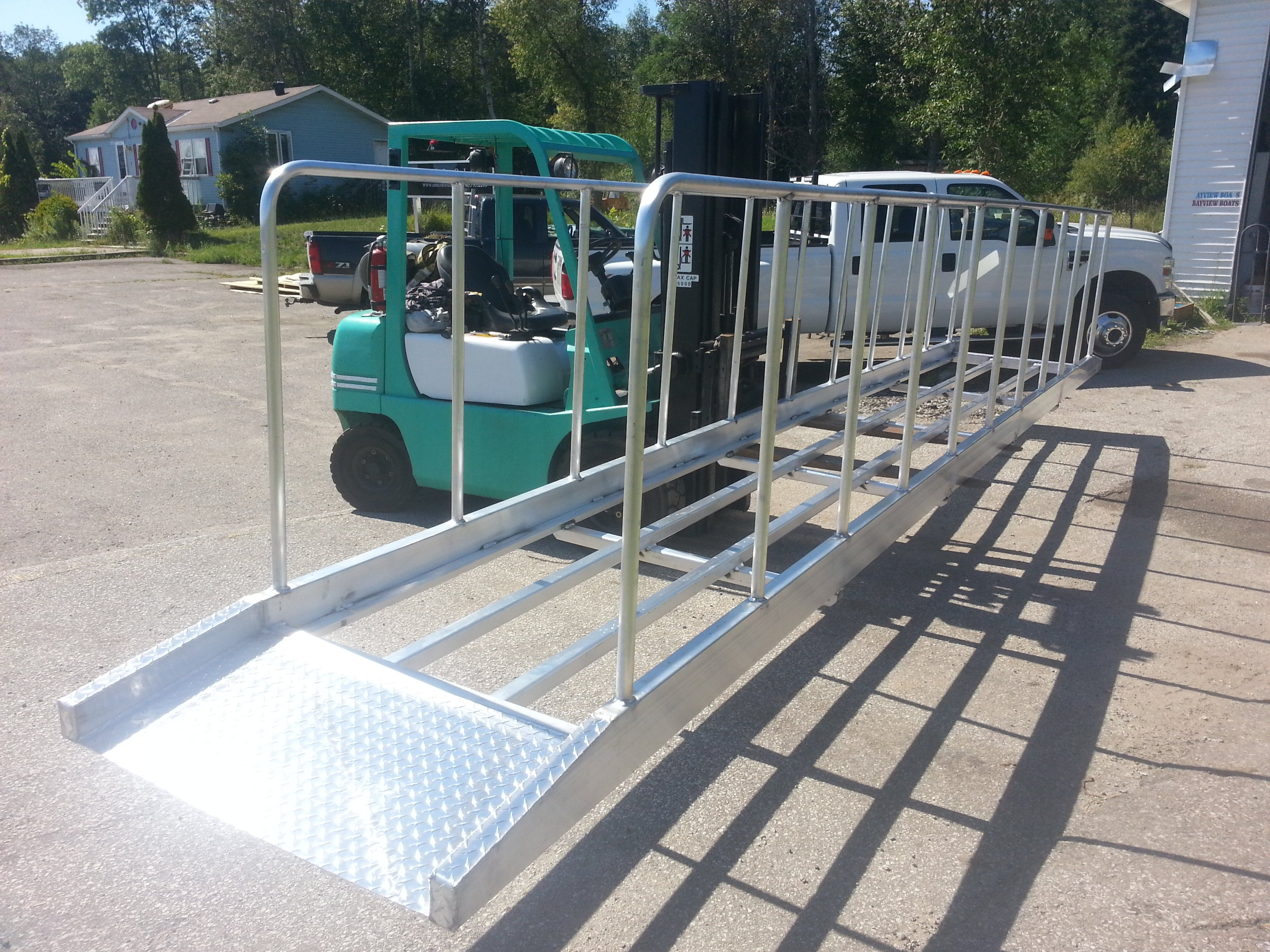 Custom dock ramp
