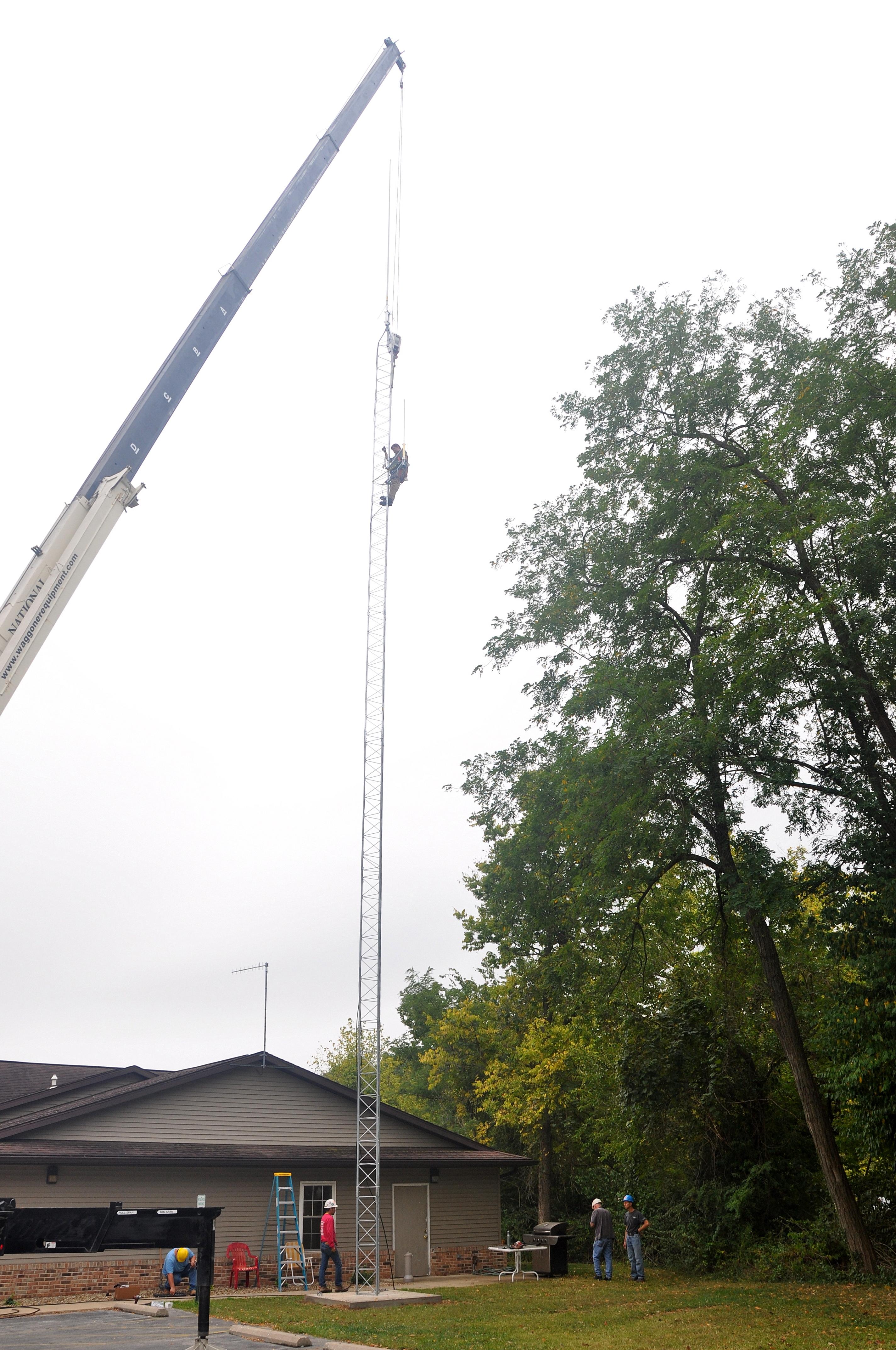 Raising a 90ft Tower