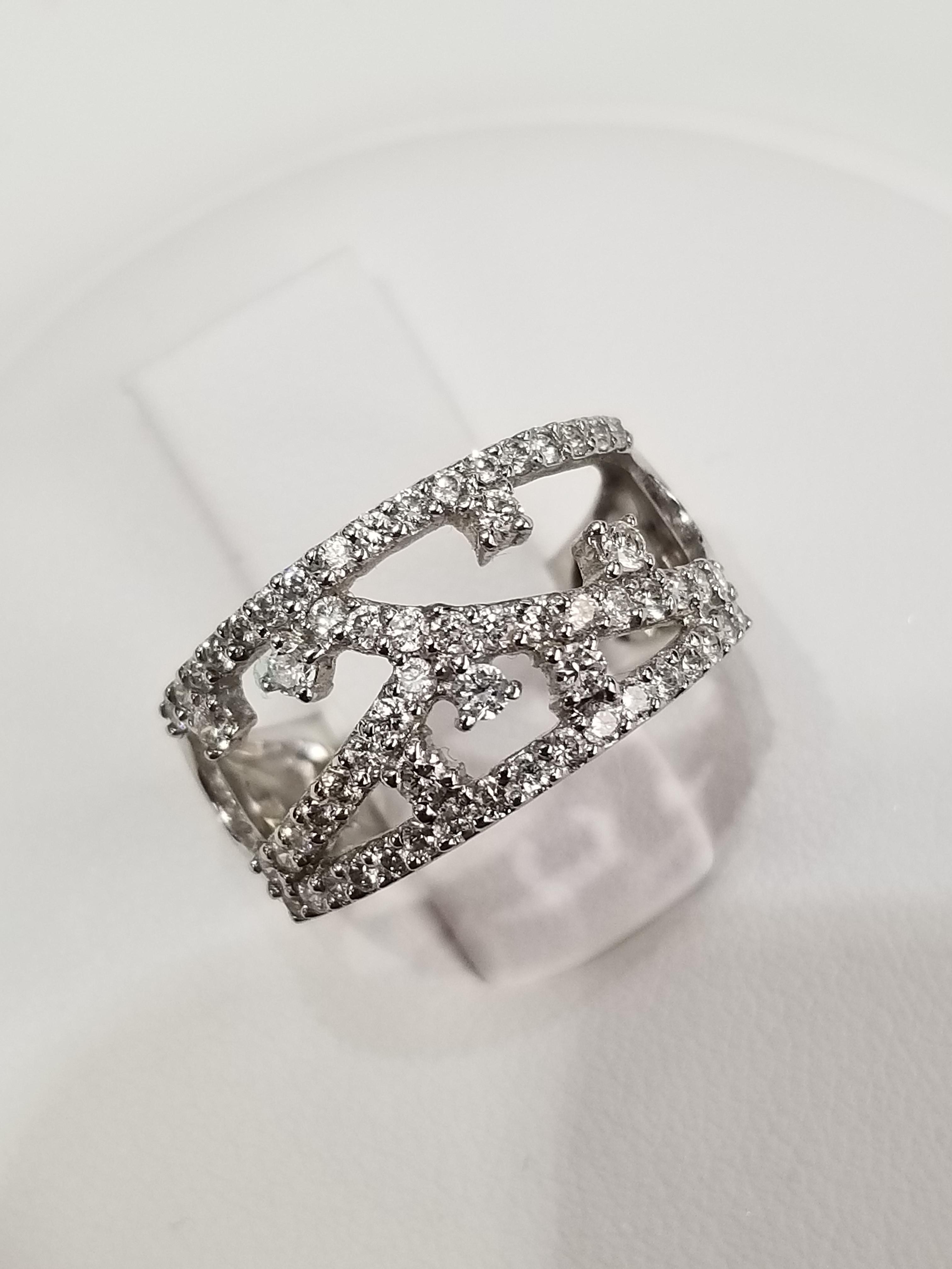 18K White Gold Diamonds: 0.90ct Regular Price $4975 SALE $1325 Ref: BK350
