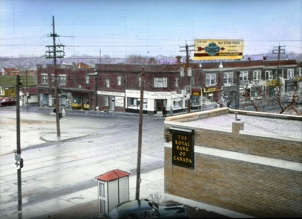 Intersection Dufferin St. and Eglinton Ave. - 1954