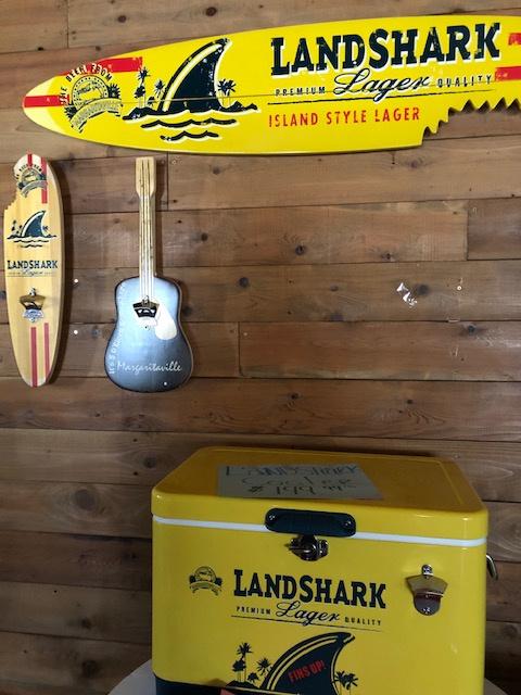 Landshark Sharkbite Sign