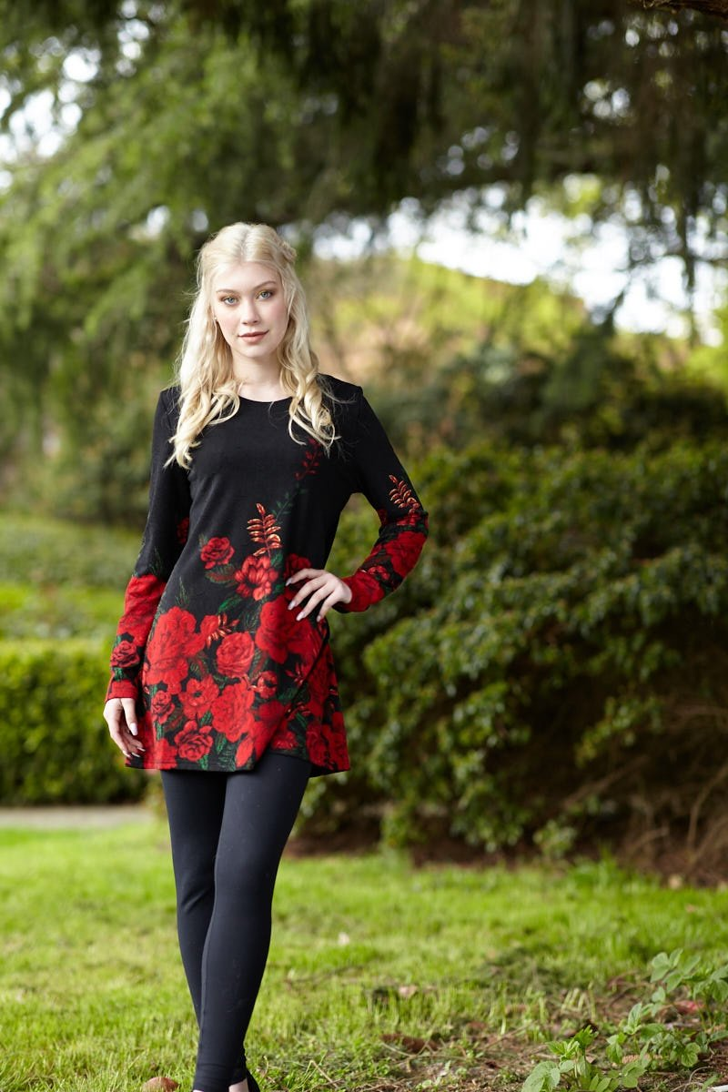 Rose Border Tunic - $90.00