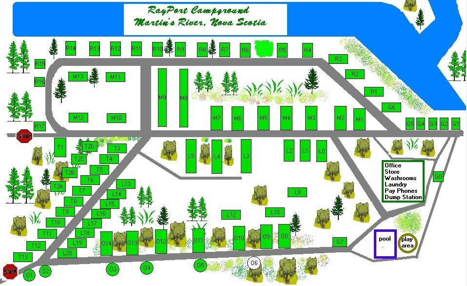 RAYPORT CAMPGROUND - Map