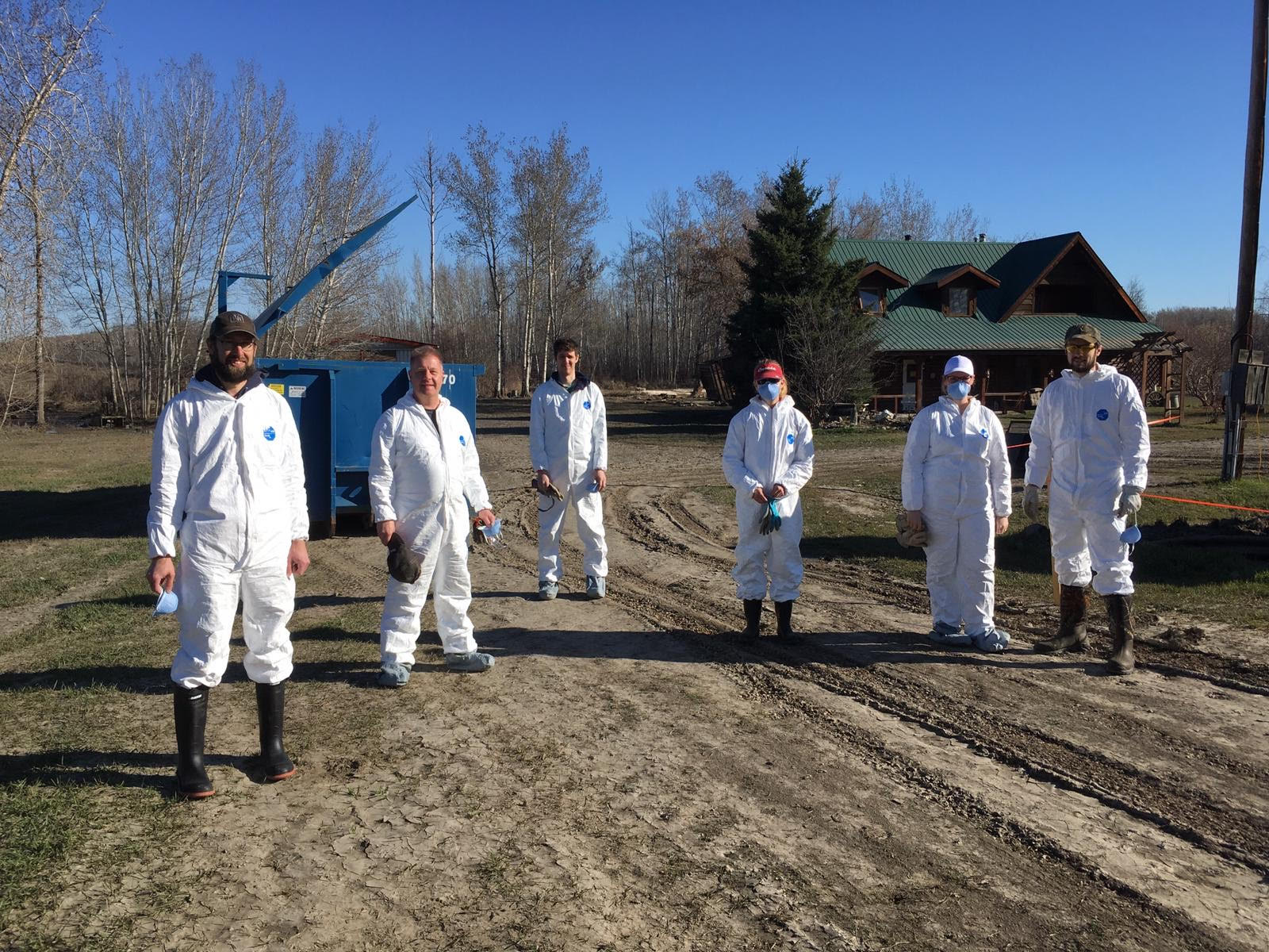 Fort Vermilion 2020 Flood Clean-Up - before . . .
