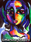 Girl On Purple original painting