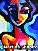Girl In Blue original abstract painting female figure