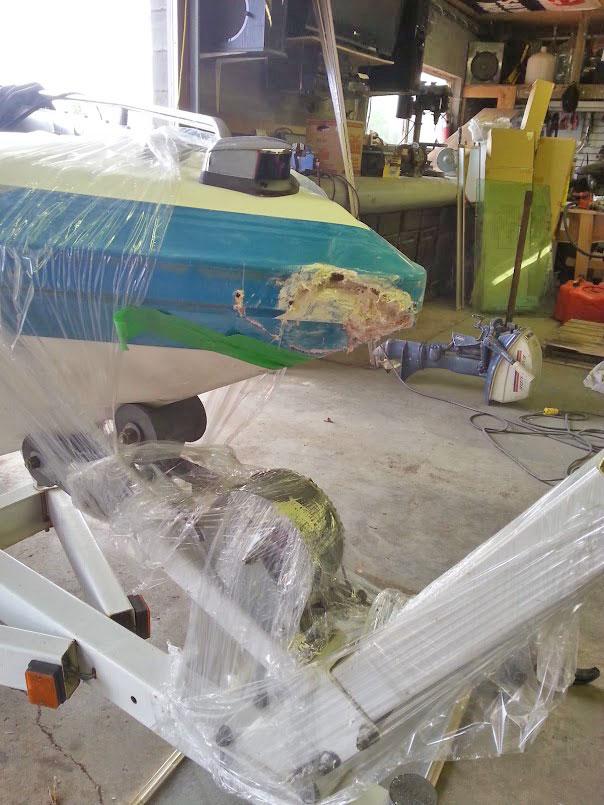 Damaged Insurance Boat