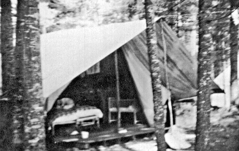 Tents were used for sleeping.