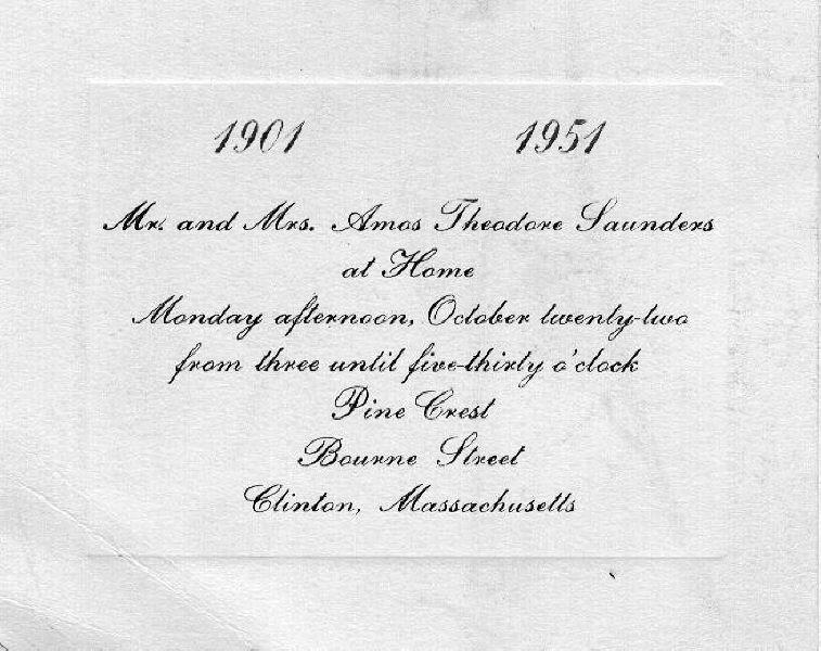 Invitation to Amos and Caroline's Wedding