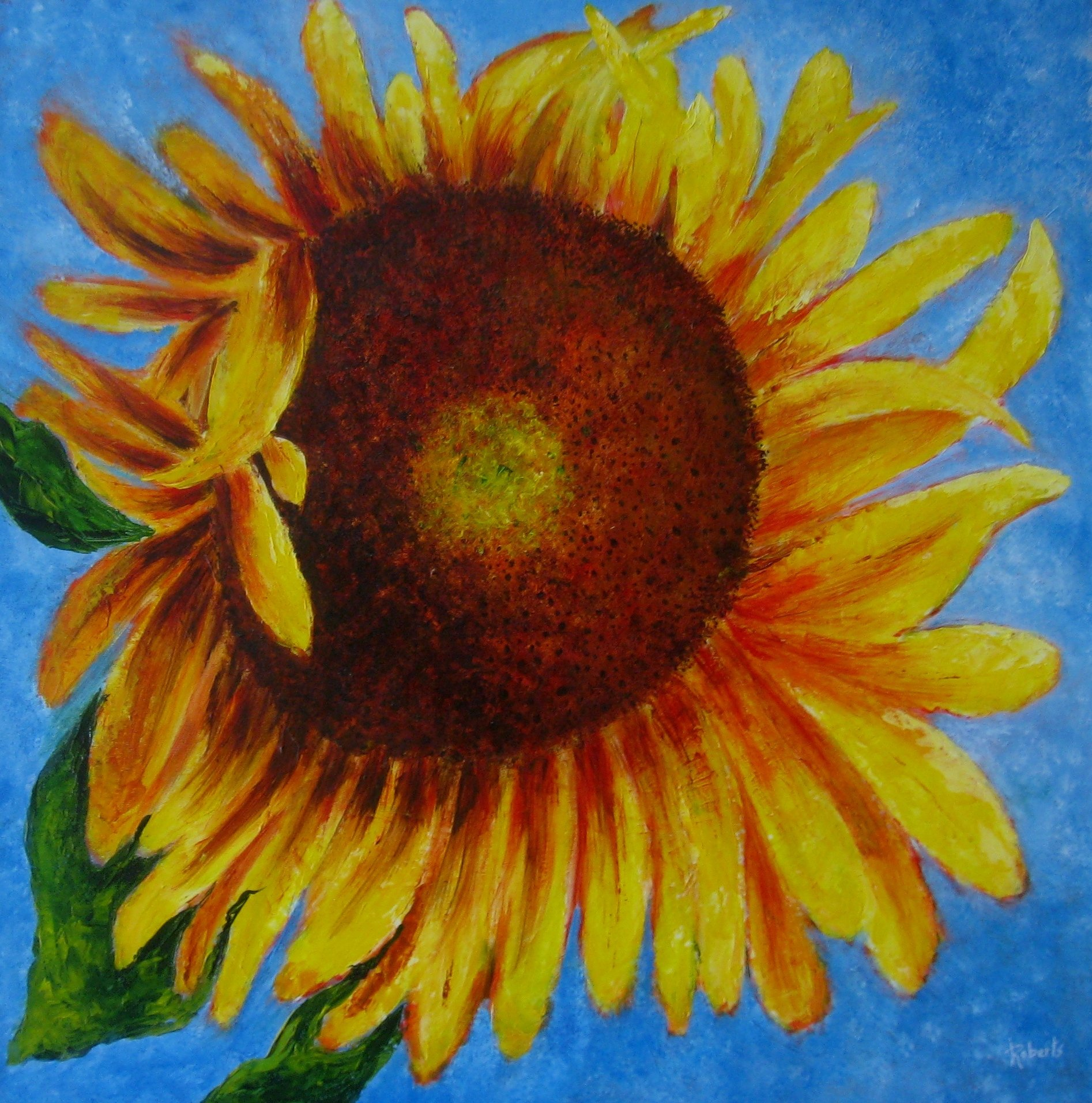 Let the Sun Shine In 24 x 24 gallery canvas $500.