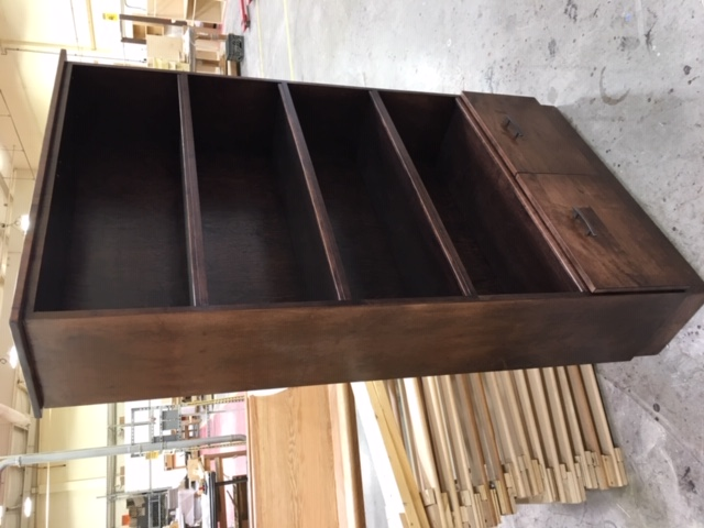 Custom Bookcase with Bottom Storage