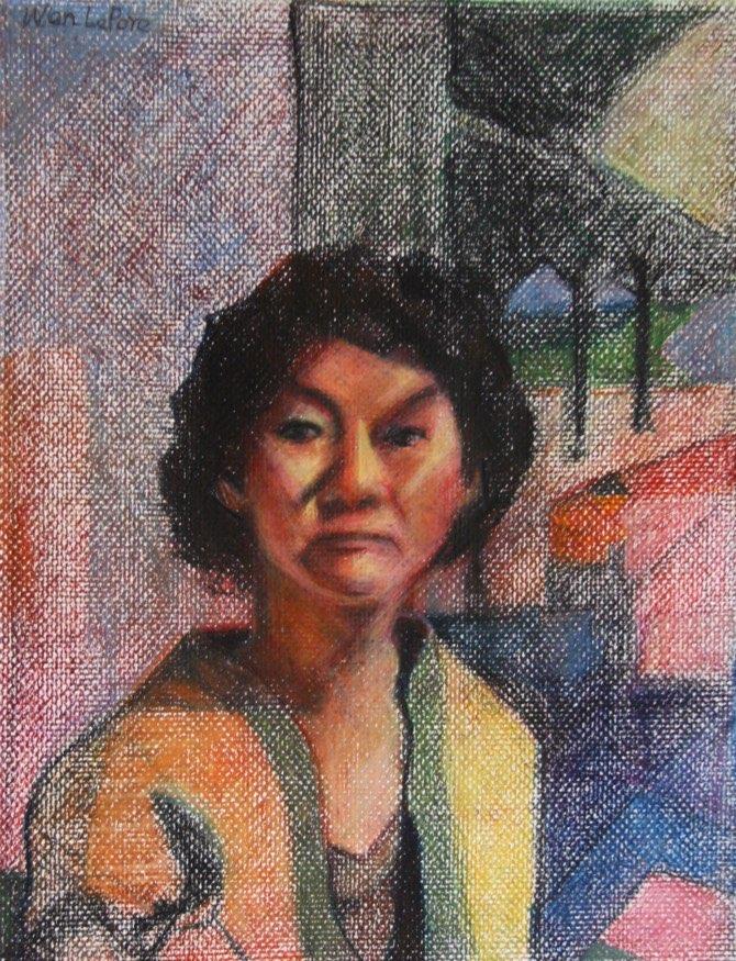 Self-Portrait 2010 oil pastel