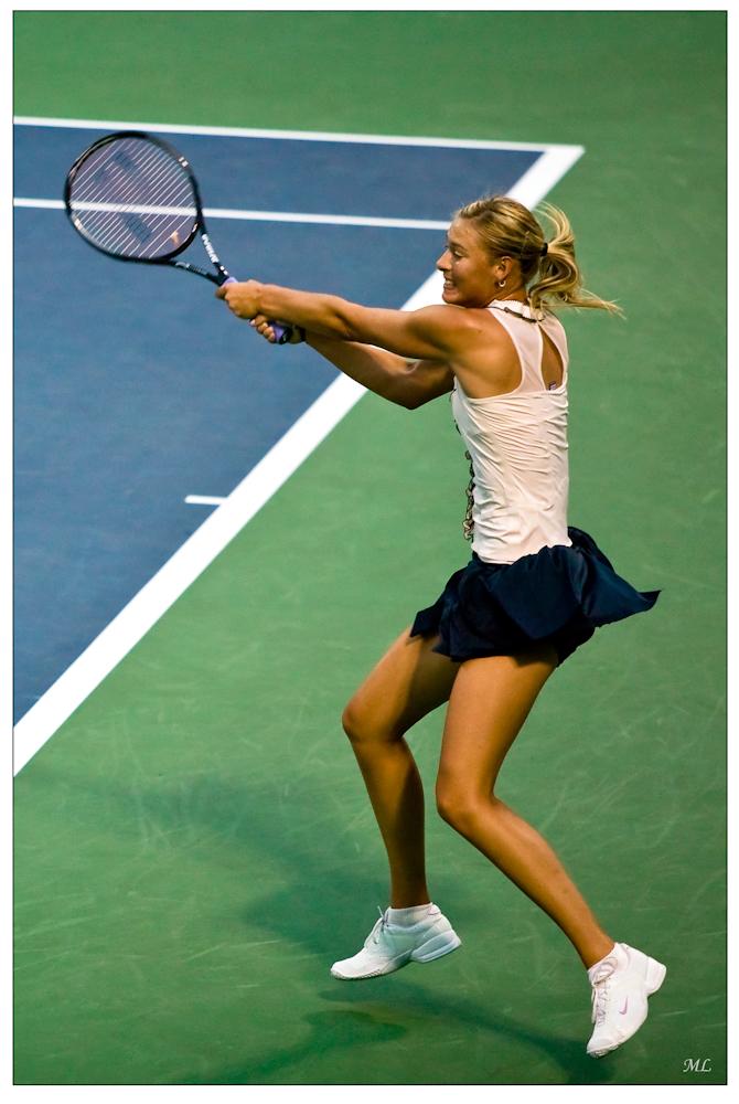 Maria Sharapova lors  de sa dernière partie  de 2008 - Montréal  août 2008