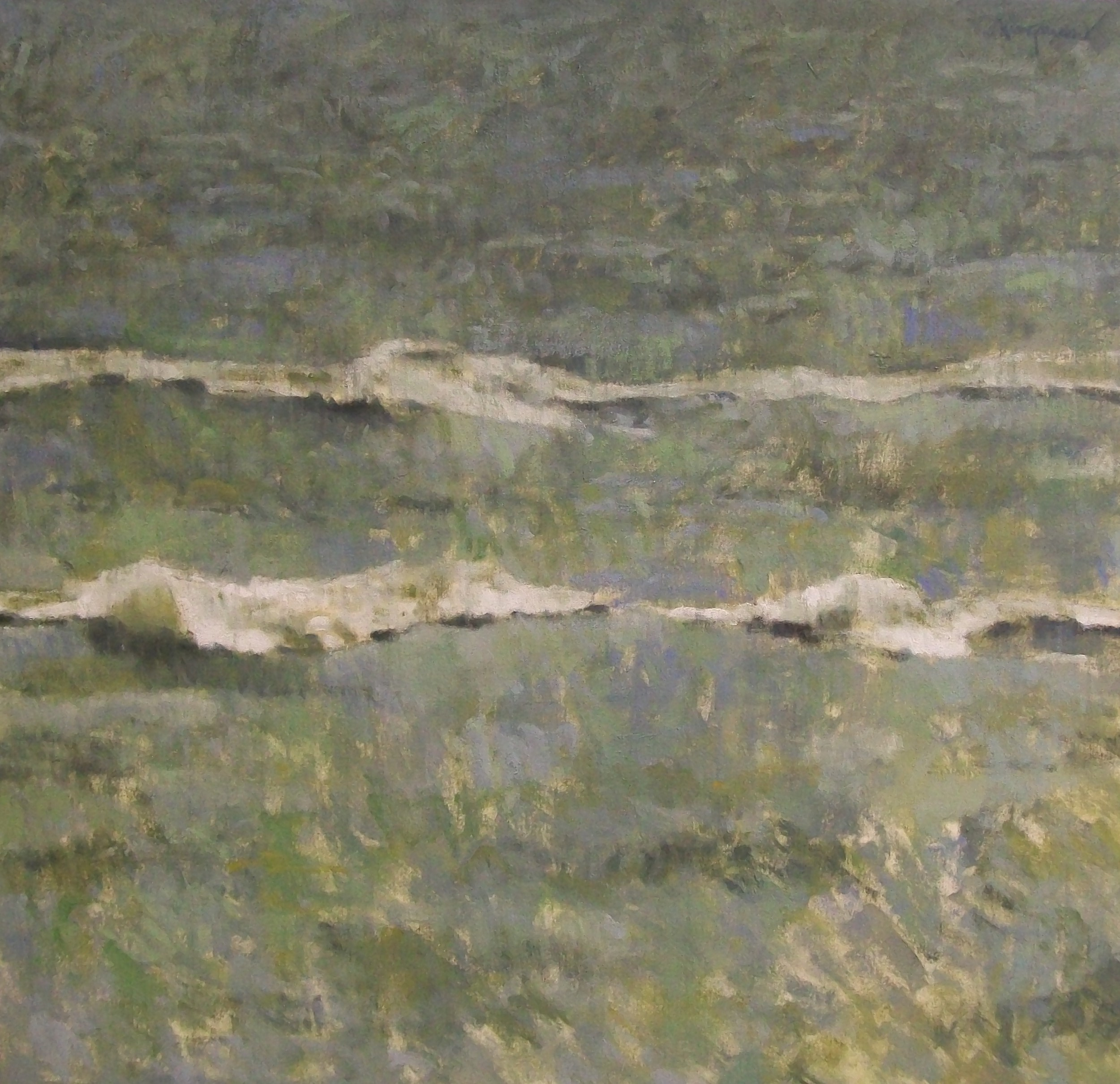 Cresting Waves, 2002, oil on canvas