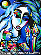 Peace of Shabbat original Jewish fine art artist Martina Shapiro