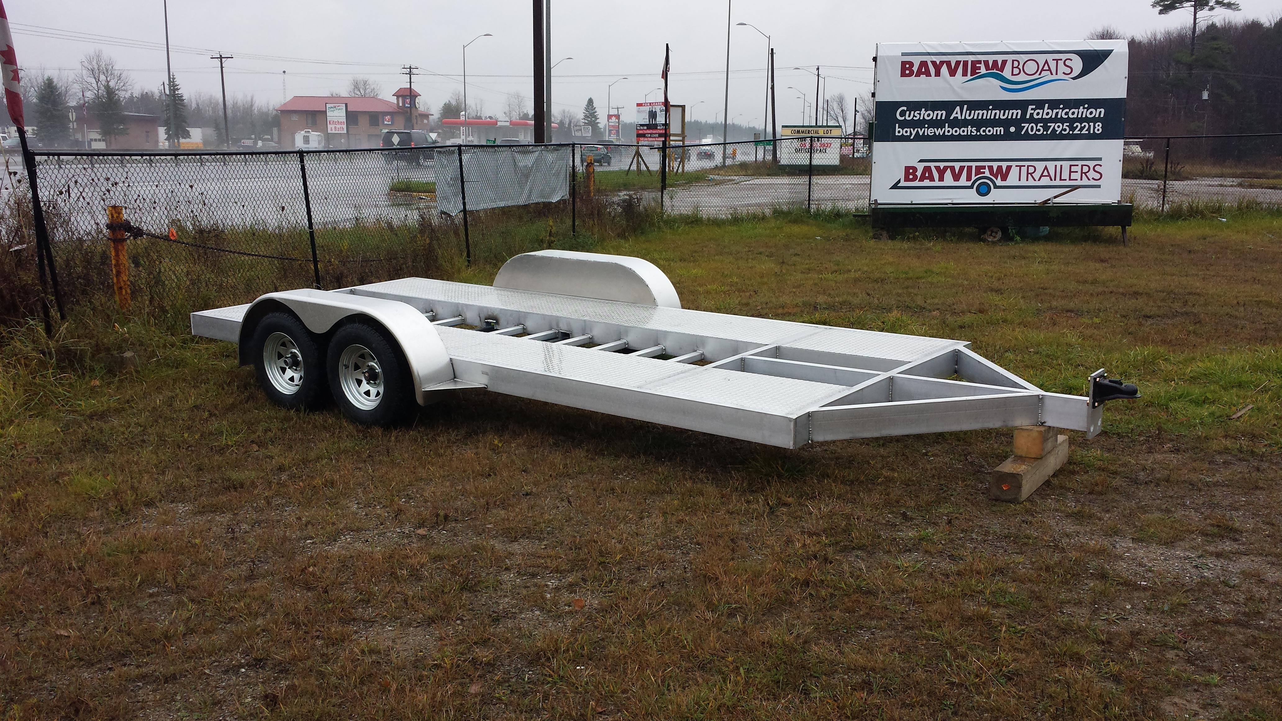 Custom trailer for race car