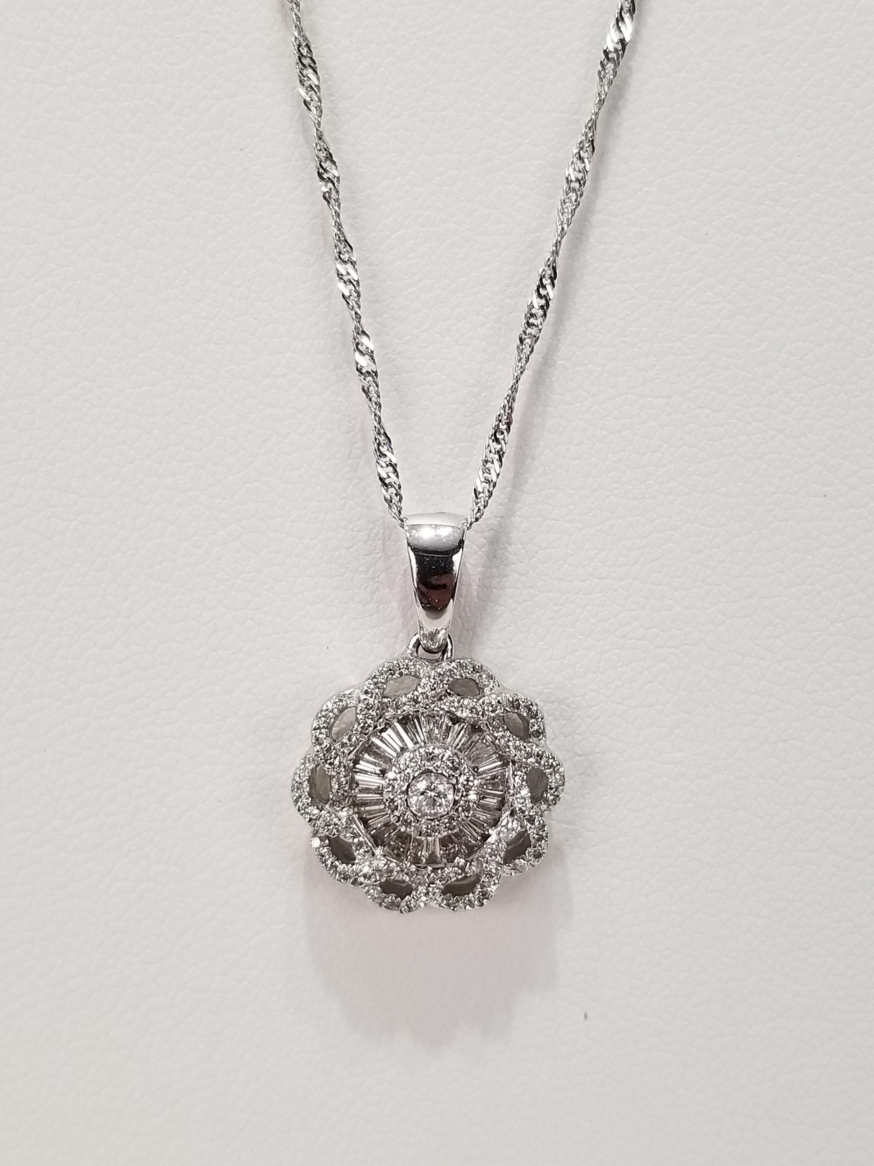 14K White Gold Diamonds 0.49ct Regular Price $2550 SALE $695 Ref HM651