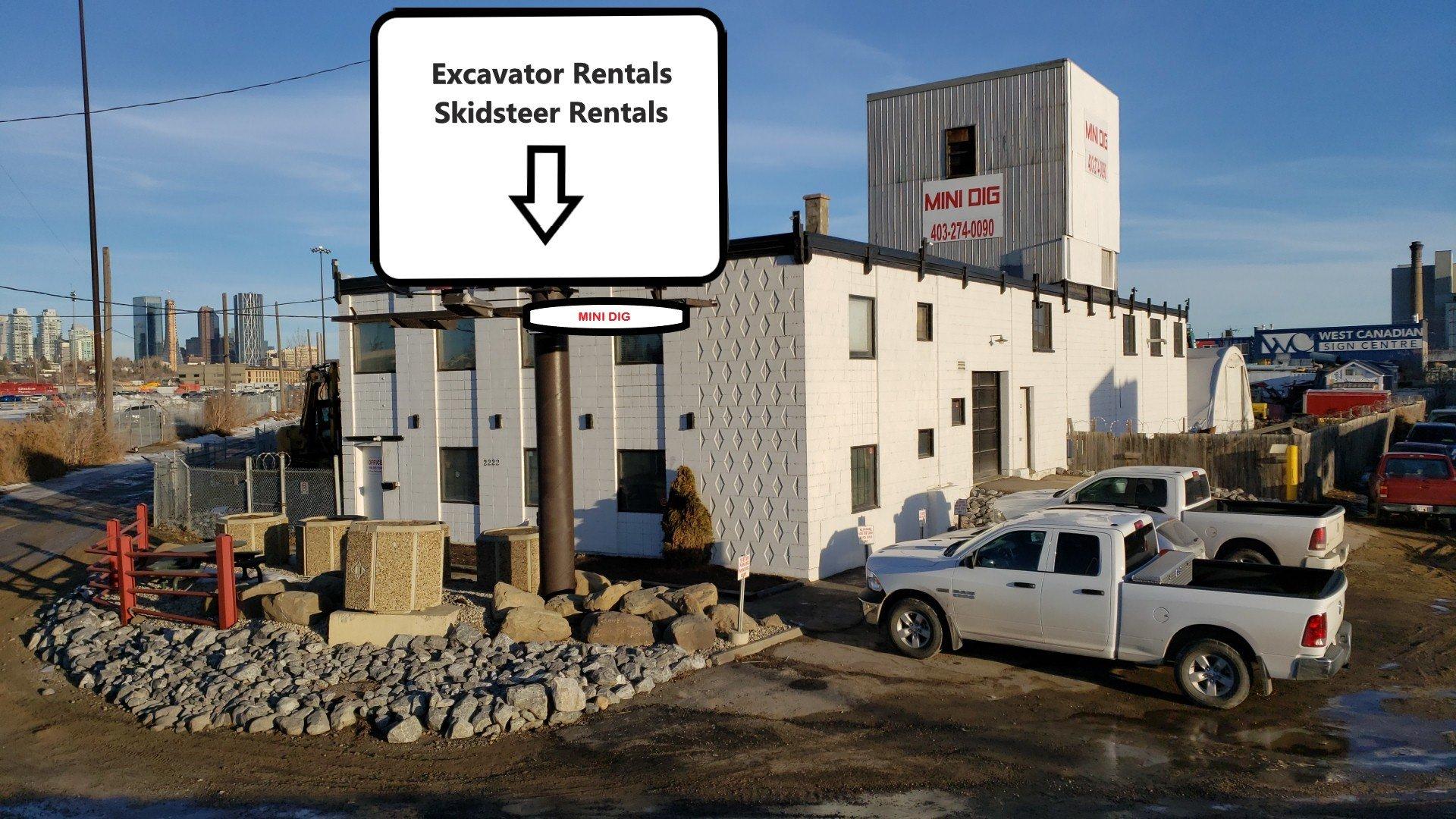 Equipment Rentals, Mini Dig, Rentals, Excavation, Demolition