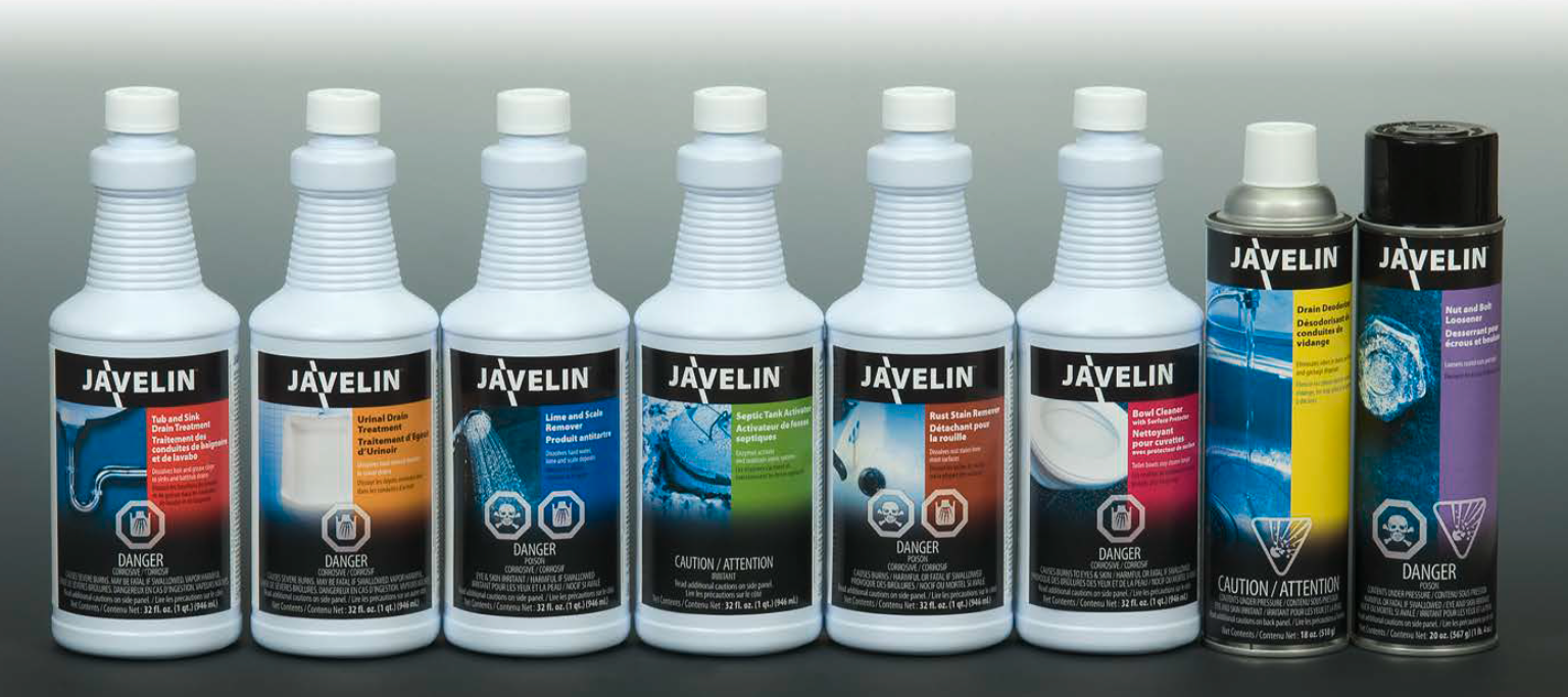 JAVELIN Drain Care & Surface Cleaning Solutions
