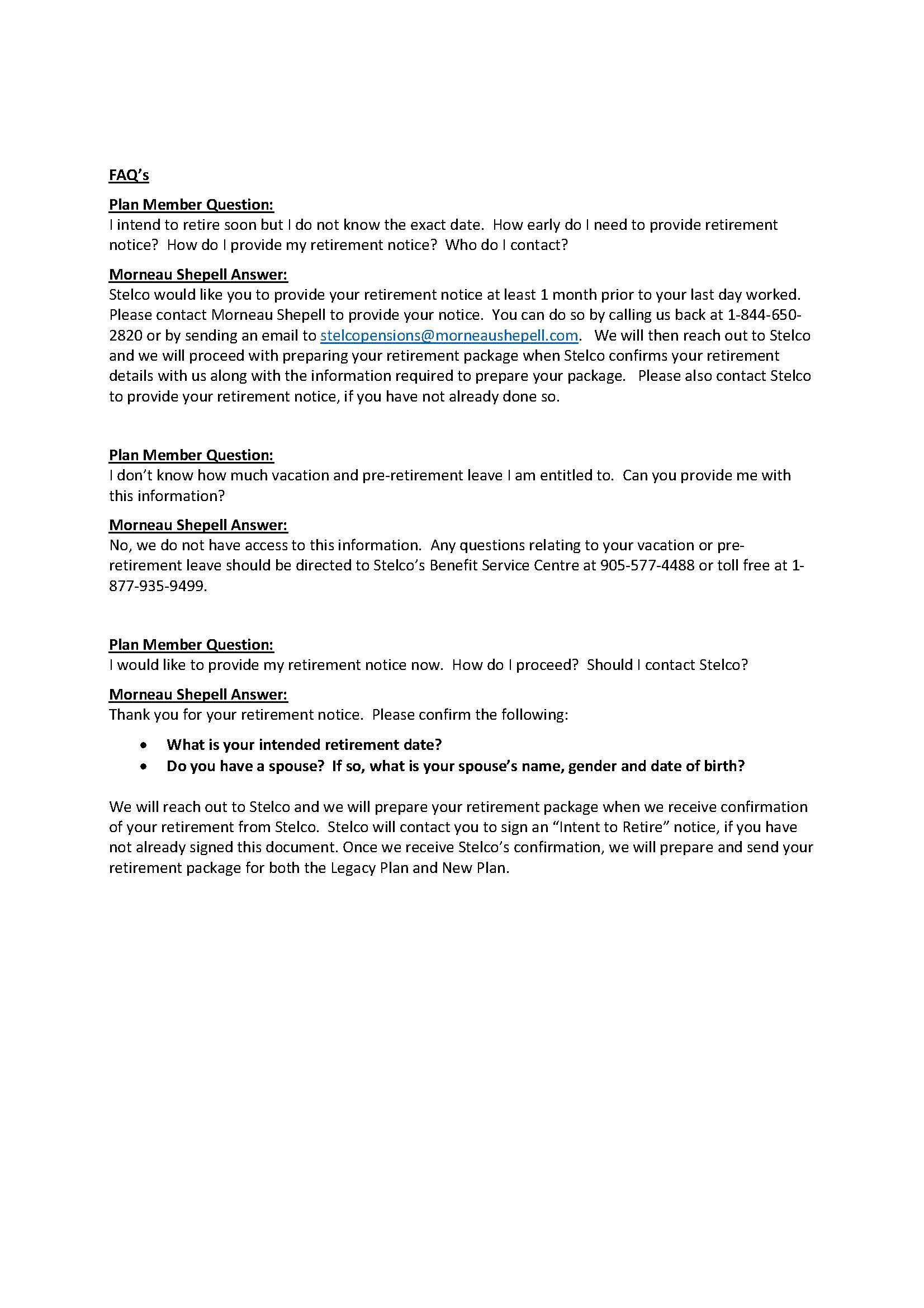 LOCAL 8782 - Retirement process