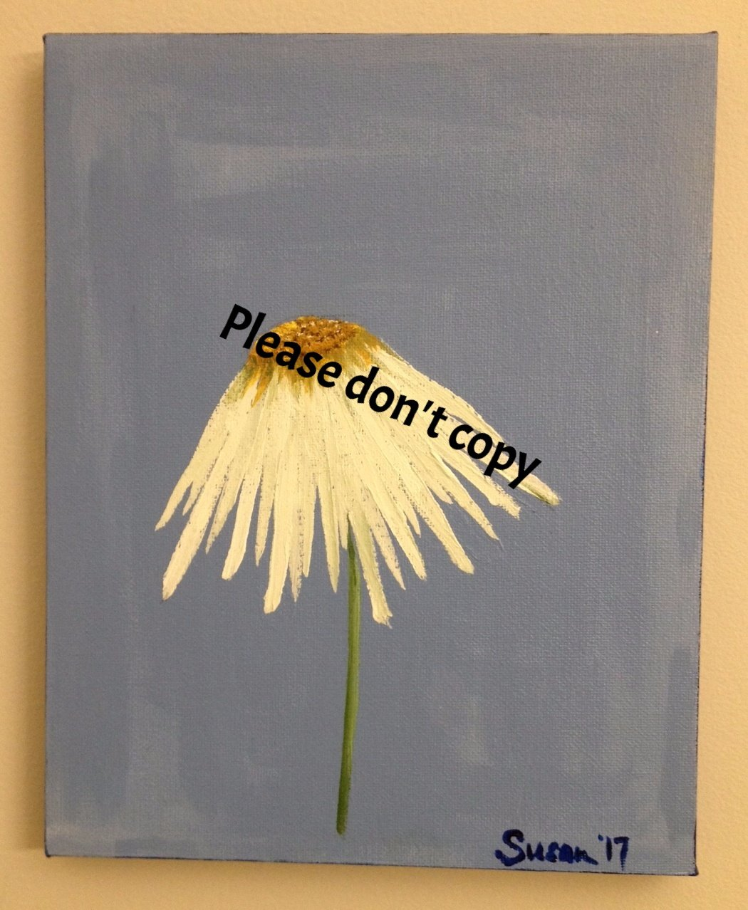 Windblown Daisy 8 x 10 Acrylic (SOLD)