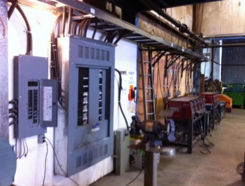 Old mill buildings were renovated and the service upgraded to become our fabrication shops.