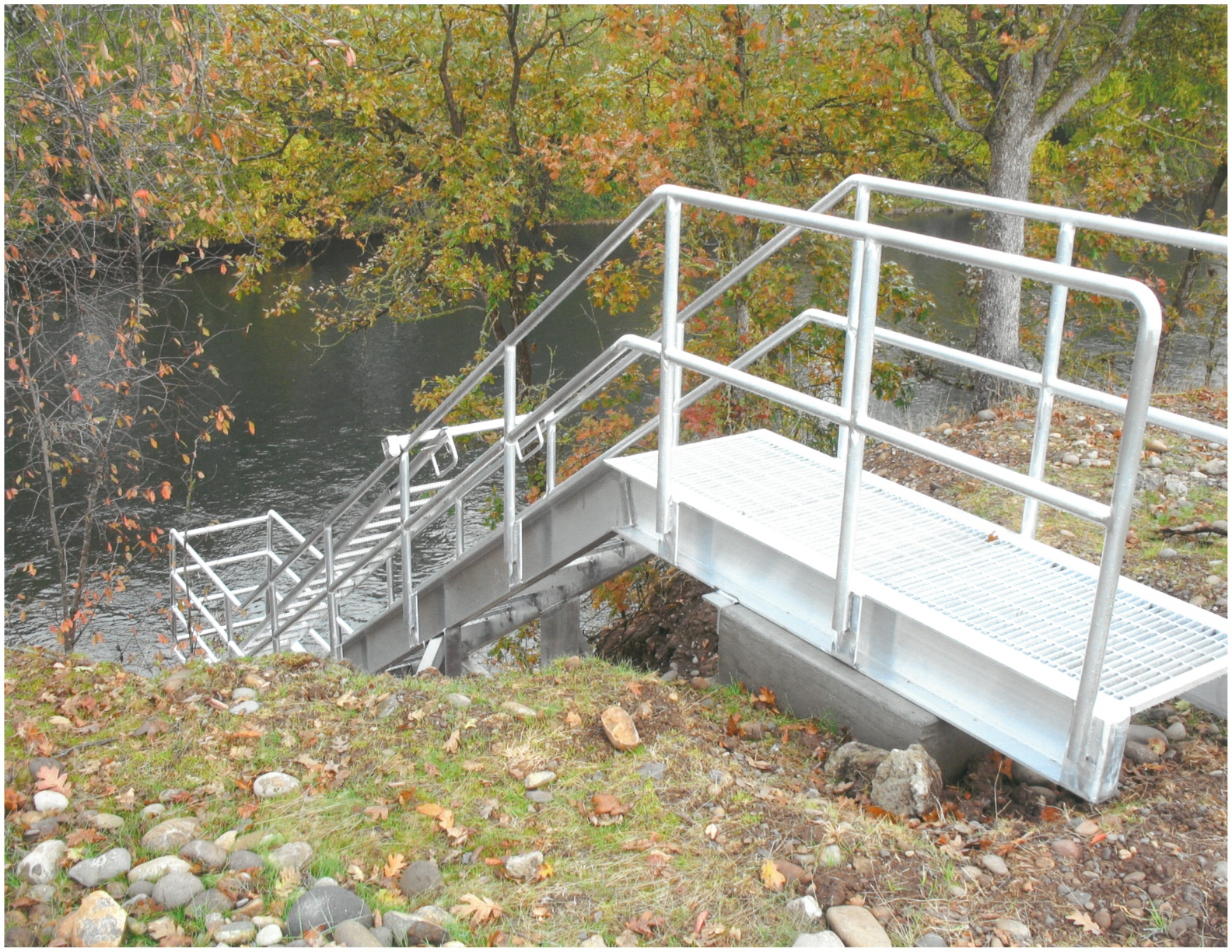Aluminum Access Staircase @ Medford Water Treatment Plant